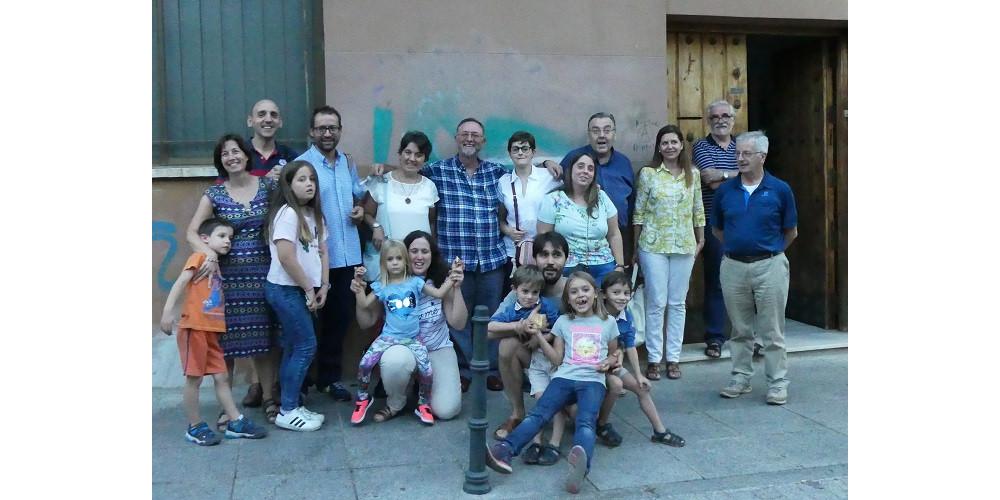 Visita Miguel Angel Cuadrillero con el grupo